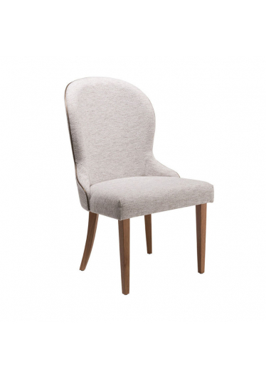 Cadeira Betine Estofada Base Madeira Imbuia Star Mobile