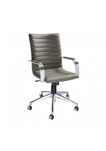 Cadeira com Braços Giratória Carol Gomada Escritório Relax Base Alumínio Star Mobile