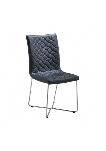 Cadeira Carol Matelassê Base Ferro Maciço Cromado Star Mobile