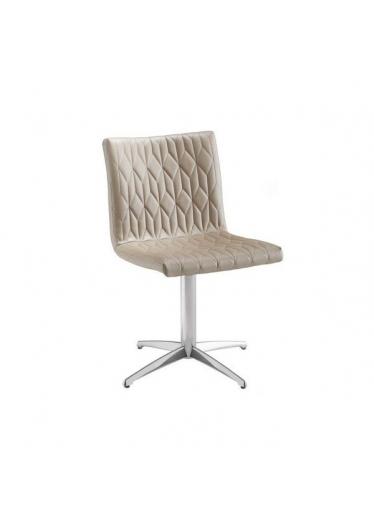 Cadeira Giratória Carolina Matelassê Base Alumínio Star Mobile