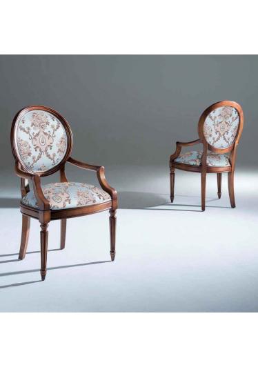Cadeira Ellos com Braço Madeira Maciça Design Clássico Avi Móveis