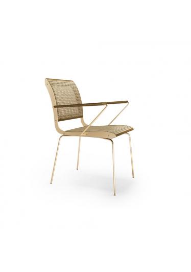 Cadeira com Braço Falx Palha Natural Coleção Bari Tremarin Design by Fernando Sá Motta