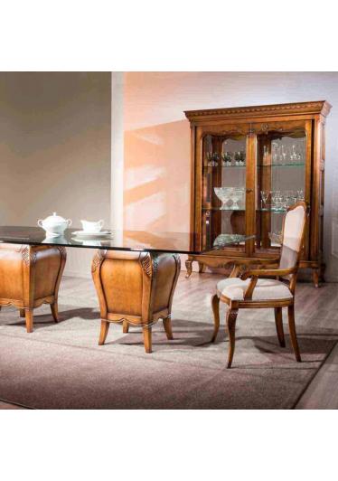 Cristaleira Hillux 2 Portas Madeira Maciça Design Clássico Avi Móveis