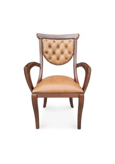 Cadeira com Braço Viena Estofada Madeira Maciça com Pinturas e Tecidos Personalizáveis