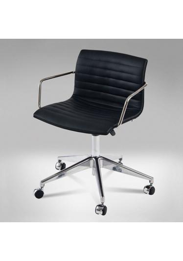 Cadeira Delta Girat. C/Braço 5 Patas Rodizio Gás Studio Clássica