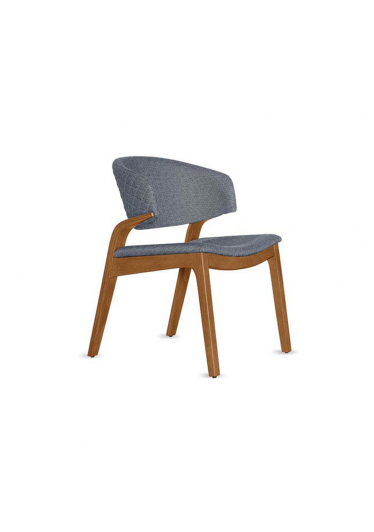 Cadeira Diva Encosto com Matelassê Estilo Minimalista Destack Móveis Design by Ibanez Razzera