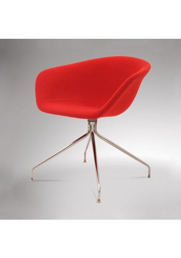 Cadeira Giratória Érgo Soft com 4 Pés em Aço Inox Design by Studio Clássica