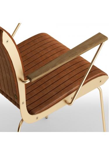 Cadeira com Braço Falx Estofada Coleção Bari Tremarin Design by Fernando Sá Motta