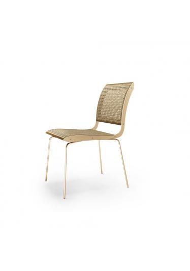 Cadeira Falx Palha Natural Coleção Bari Tremarin Design by Fernando Sá Motta