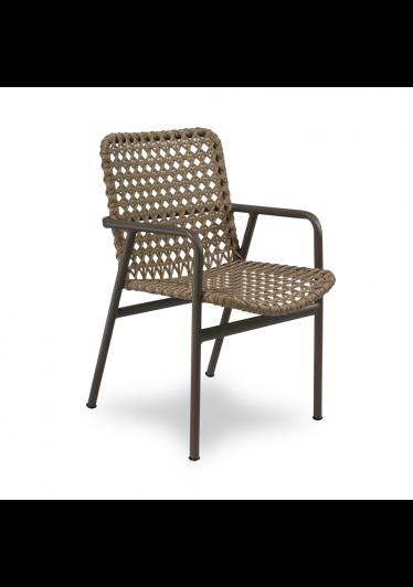 Cadeira Flora para Área Externa Trama Corda Náutica Estrutura Alumínio Eco Friendly Design Scaburi