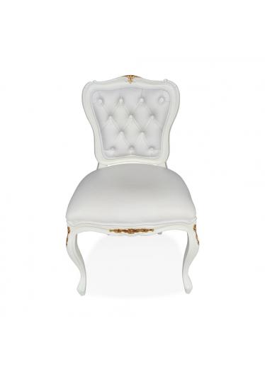 Cadeira Francesa Entalhada em Capitone com Pinturas e Tecidos Personalizáveis
