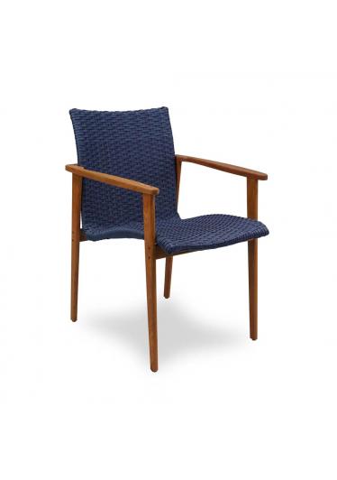 Cadeira Fresno Fibra Sintética Estrutura Madeira Cumaru e Alumínio Eco Friendly Design Scaburi