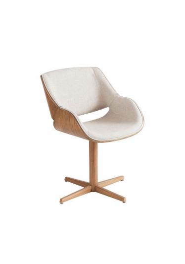 Cadeira Giratória Allana Estofada Base Alumínio com Lâmina Cinamomo Star Mobile