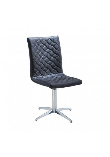 Cadeira Giratória Carol Matelassê Base Alumínio Star Mobile