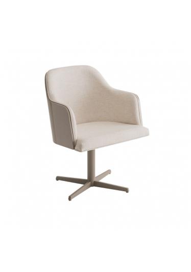 Cadeira Giratória Luiza Estofada Base Alumínio Pintado Star Mobile