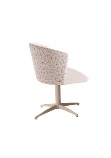 Cadeira Giratória Maggy Matelassê Base Alumínio Pintado Star Mobile