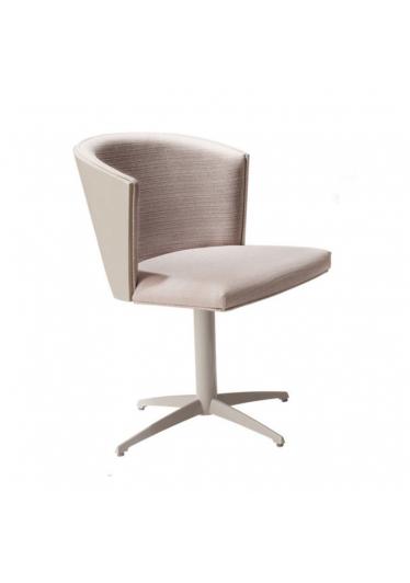 Cadeira Giratória Maggy Estofada Base Alumínio Pintado Star Mobile