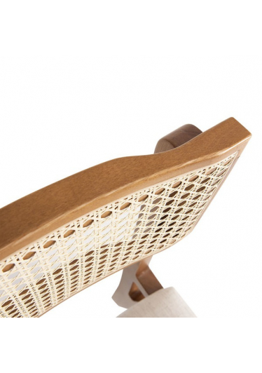 Cadeira Greg Tela Base Madeira Eucalipto Star Mobile Design by Sérgio Gomes