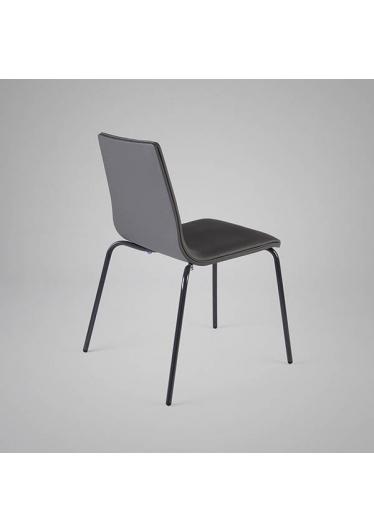 Cadeira H1 Couro Ecológico e Estrutura em Aço Carbono Design by Studio Artesian