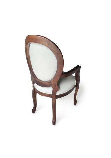 cadeira imperial braco capitonê imbuia couro