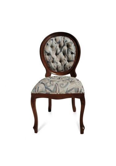 cadeira imperial capitone estampada