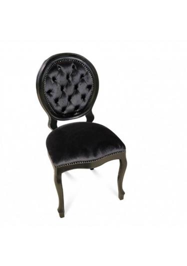 Cadeira Imperial Capitone em Madeira Maciça com Pinturas e Tecidos Personalizáveis2