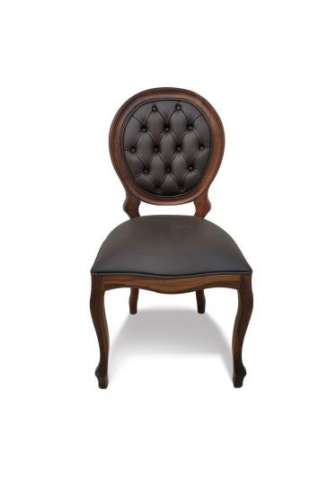 Cadeira Imperial Capitone em Madeira Maciça com Pinturas e Tecidos Personalizáveis