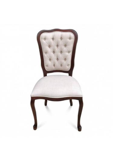 Cadeira Inglesa em Madeira Maciça com Pinturas e Tecidos Personalizáveis