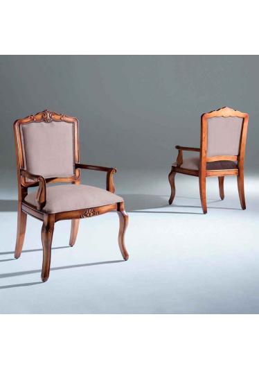 Cadeira Inspiração com Braço Madeira Maciça Design Clássico Avi Móveis