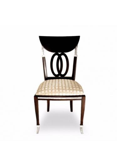 Cadeira Italiana em Madeira Maciça com Pinturas e Tecidos Personalizáveis