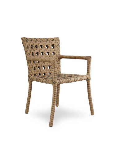 Cadeira Java com Braço para Área Externa Fibra Sintética Estrutura Alumínio Eco Friendly Design Scaburi