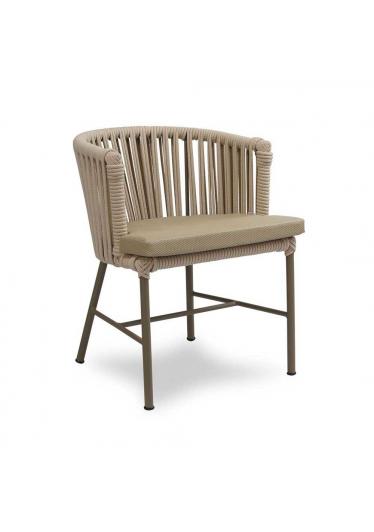 Cadeira Jurerê para Área Externa Trama Corda Náutica Estrutura Alumínio Eco Friendly Design Scaburi