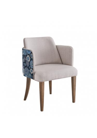Cadeira Leny Estofada Base Madeira Star Mobile