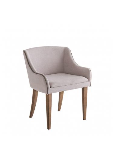 Cadeira Liz Estofada Base Madeira Imbuia Star Mobile
