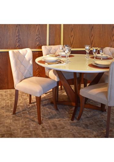 Cadeira Luciane Botonê Base Madeira Maciça Jequitibá Tremarin Design by Studio Marko20