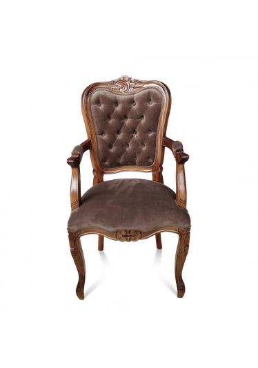 Cadeira Luis XIV com Braço em Capitone com Pinturas e Tecidos Personalizáveis