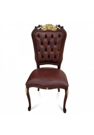 Cadeira Luis XV Capitone em Madeira com Pinturas e Tecidos Personalizáveis
