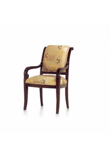 Cadeira Luis XVI Entalhada em Madeira com Pinturas e Tecidos Personalizáveis