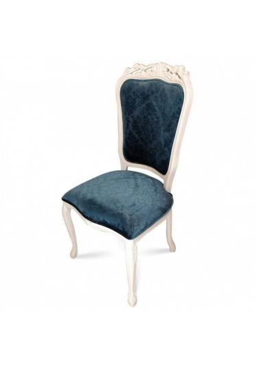 Cadeira Luiz XV Entalhada em Madeira com Pinturas e Tecidos Personalizáveis