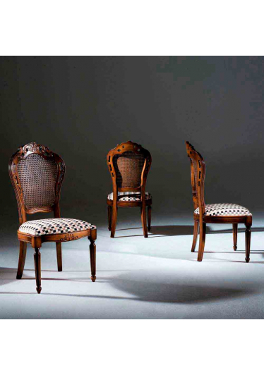 Cadeira Luxo Madeira Maciça Design Clássico Avi Móveis