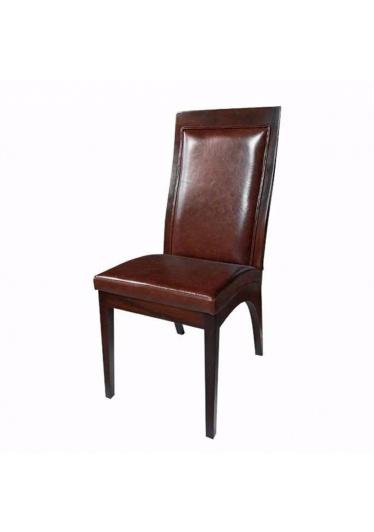 Cadeira Madri Estofada em Madeira Maciça com Pinturas e Tecidos Personalizáveis