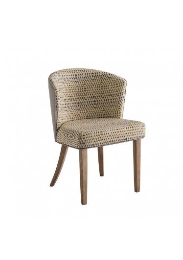 Cadeira Maggy Estofada Base Madeira Imbuia Star Mobile