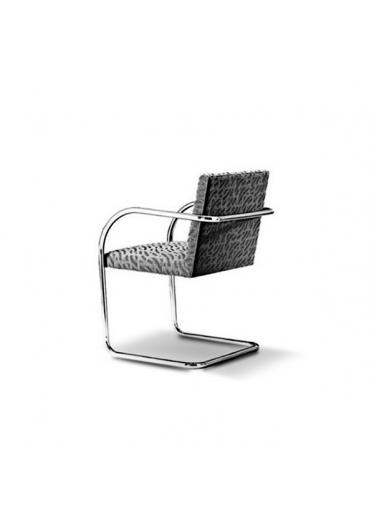 Cadeira MR 245 Estrutura em Aço Inox Cremon Design by Ludwig Mies van der Rohe