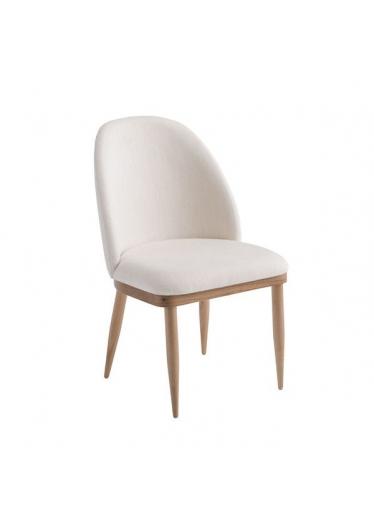 Cadeira Myla Estofada Base Madeira Eucalipto Star Mobile