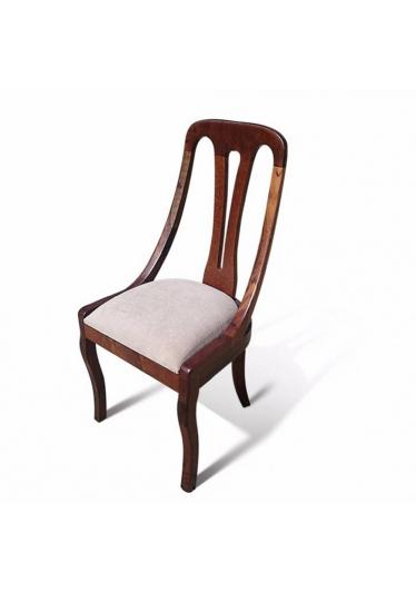 Cadeira Napoleão em Madeira Maciça com Pinturas e Tecidos Personalizáveis
