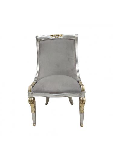 Cadeira Napoleão Entalhada em Madeira Pintura e Tecido Personalizáveis