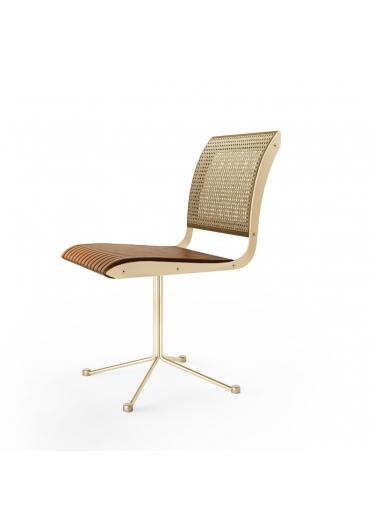 Cadeira Giratória Falx Office Palha e Estofada Coleção Bari Tremarin Design by Fernando Sá Motta