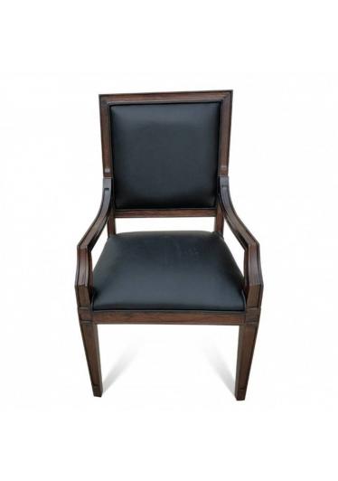 Cadeira Omega com Braço em Madeira Maciça com Pinturas e Tecidos Personalizáveis