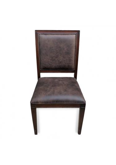 Cadeira Omega em Madeira Maciça com Pinturas e Tecidos Personalizáveis