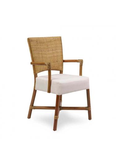 Cadeira Palo Alto com Braço Junco Envelhecido Estrutura Apuí Eco Friendly Design Scaburi